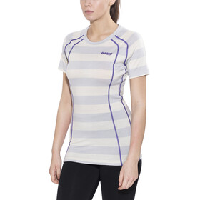Bergans Fjellrapp Tee Lady White Striped/Funky Purple